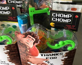 Wreck it Ralph Favor Box, Wreck it Ralph Party, Wreck it Ralph Treat Boxes. Set of 10
