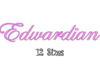SALE** Edwardian Embroidery Font 12 Sizes Machine BX Embroidery Fonts Alphabets Embroidery Designs PES - Instant Download