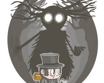 the Beast and the Huntsman (Over the Garden Wall) Print