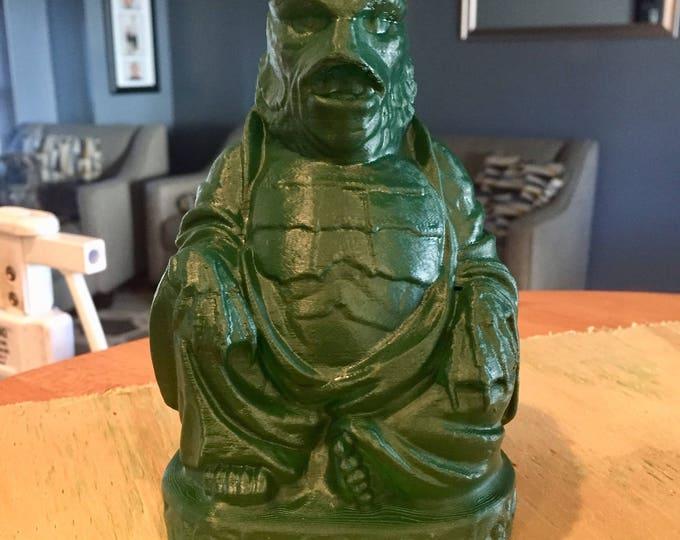 Creature from the Black Lagoon  Buddha (Hunter Green Satin)
