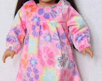 18 Inch Pink Flannel Nightgown