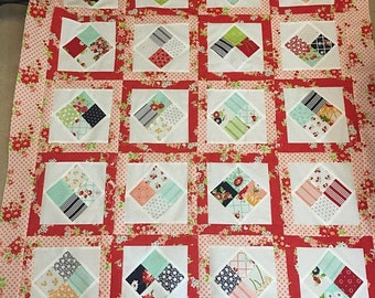 Christmas In June The Good Life Scrappy Lap-Baby Quilt Top 38x46