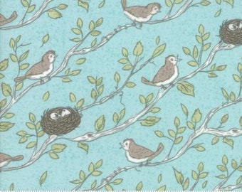 Moda - Nest by Lella Boutique - Robins Egg - 5061 15 - 100% cotton fabric - Fabric by the yard(s)