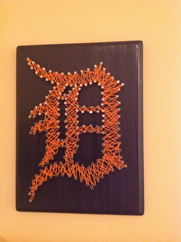 Detroit Tigers string art