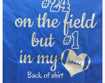 football mom shirt football grandma shirt personalized with your number