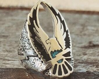 Freebird turquoise biker ring