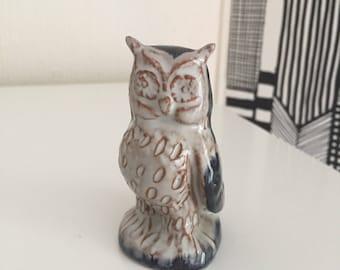 Danish/ceramic/owl/figurine/dissing/hovedgaard/Denmark/midcentury modern