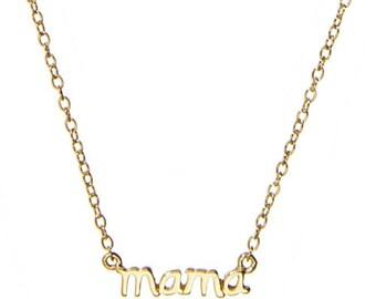 Les Soeurs Romée mama necklace gold