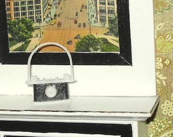 Miniature dollhouse vintage black camera