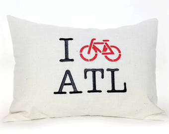 I Bike ATL Pillow
