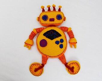 Yellow Robot Crochet Pattern - Robot Amigurumi Pattern - Crochet Robot Pattern - Robot Toy Pattern - Amigurumi Crochet Pattern - no.182