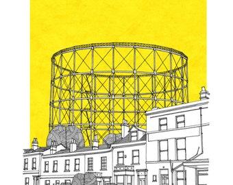 Gas Holder Bath Limited Edition Print