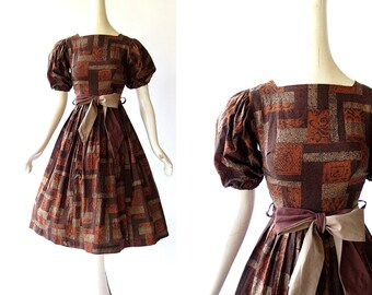 Vintage 50s Dress | Die Romantische | 1950s Dress | XXS