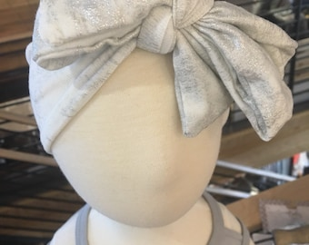 Shimmery baby headwrap