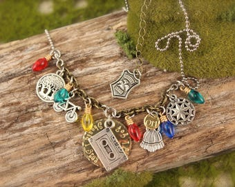 Stranger Things Inspired Charm Necklace
