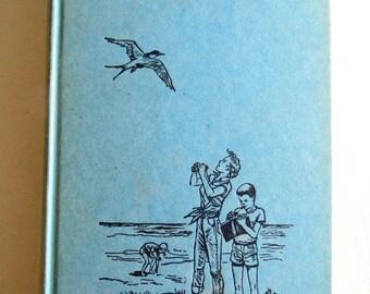 Vintage Reader - The Secret Of Saturday Cove - Blue Aqua Green Book - Vintage Children's Book - 1960s