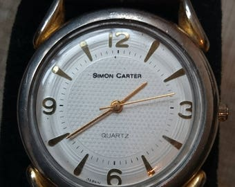 simon carter watch vintage textured dial with New battery fitted