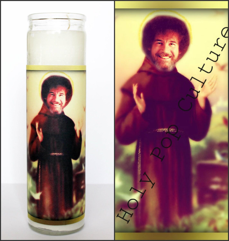 Saint bob prayer candle saint bob ross candle gag gift zoom voltagebd Gallery