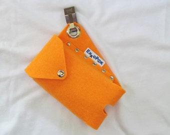 Cell Phone Belt Bag Holster Pouch, custom Felt Cell Phone Pouch, vegan Felt Smartphone Belt Clip Case, vegan Phone Case, handmade in USA