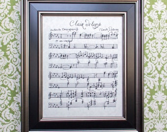 Clair de Lune by Claude Debussy Handwritten Sheet Music: Classical Print