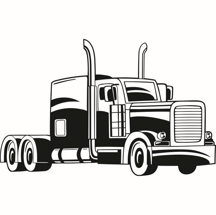 truck driver 8 trucker big rigg 18 wheeler semi tractor rh etsy com 18 wheeler clip art images 18 wheeler truck clip art