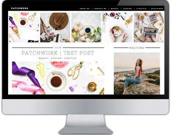 Premade responsive blogger template - PATCHWORK