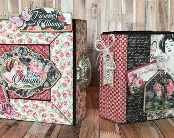 G45 - Mon Amour - Trinket Box & Mini 5x5 Album Class Kit