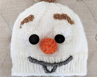 Olaf the Snowman Hat - Handknit Hats and Accessories - Disney Frozen Olaf Snowman Beanie