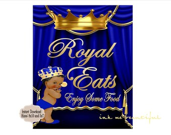 PRINTABLE Royal Baby Shower Royal Food Sign 8x10 or 5x7, Royal Baby Shower Decor,  Royal Collection