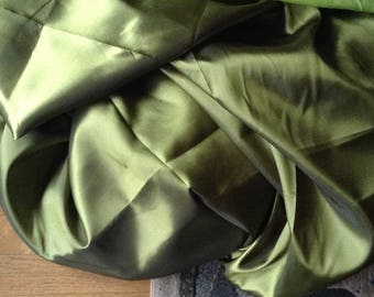 bottle green and yellow green handloom silk taffeta