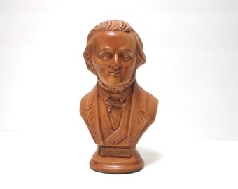 Vintage Ceramic Bust of German Opera Composer Wagner