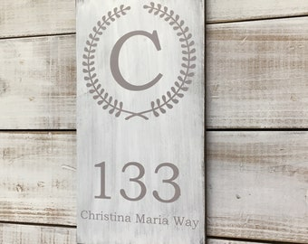 Address Sign- Address Plaque- House Warming Gift- Custom Address Sign- Home Address Sign- New Home Gift- Road Signs