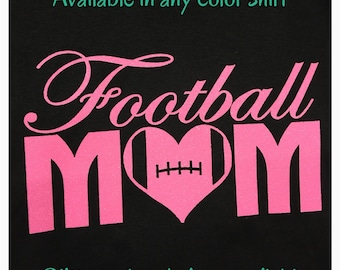Football mom shirt new personalized with name and number on back