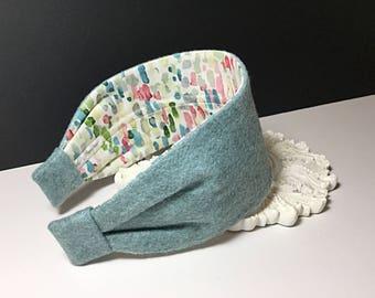 100% Wool Headband (Cotton lined)