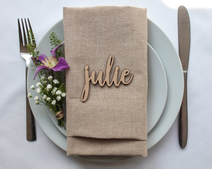 Featured listing image: Wooden Place Name // Wedding Favour