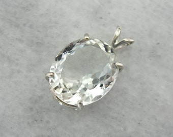 Light Blue Sillimanite Pendant of the Brightest Shade, Simple Solitaire Drop  A9D2MA-D