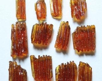 80% OFF SALE 5 Pieces Amazing Hessonite / Orange Garnet Rough Pencils
