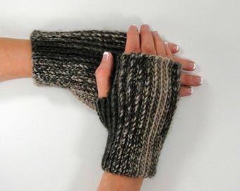Crochet Pattern - Knit Look Fingerless Gloves Crochet Pattern #403 - Knit Look Crochet - Men's and Women's Sizes - Instant Download PDF