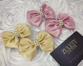 Mini Bows- Shoe Bows - Mini Hair Bow Clip