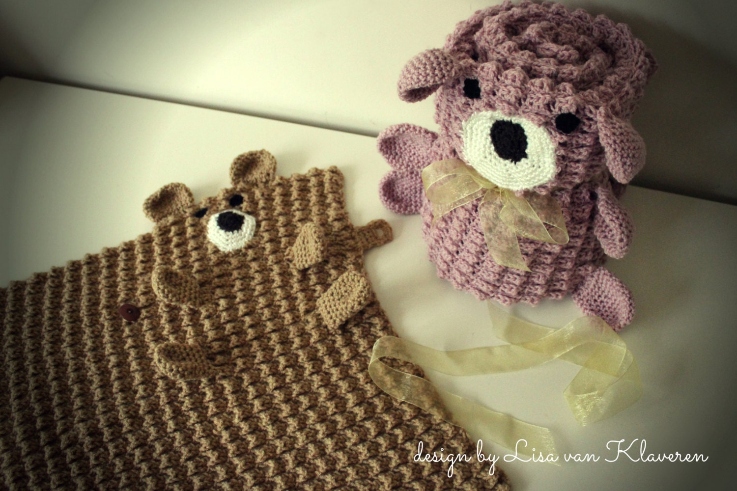 Download Now CROCHET PATTERN Roly Poly Teddy Blankets Baby