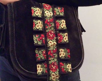 Kenzo Black Suede pouch