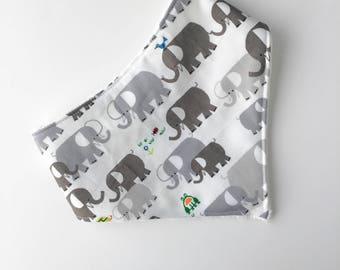 Elephant bandana Bib - Bib - Baby Bandana Bib - Bibdana - Bib - Baby Bandana Bib -  Drool Catcher Bib - Bibs & Burping - Gift under 15