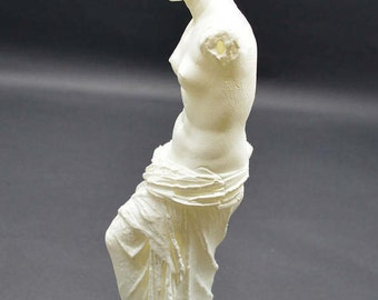 Aphrodite of Milos (Venus De Milo) Resin 3D Printed Statue from Louvre Museum in Paris