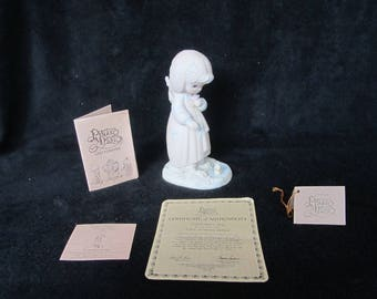 Vintage Precious Moments Figurine - pm 12076, Summer's Joy with Certificate of Authenticity