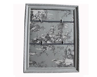 Gray weathered vintage Jouy frame