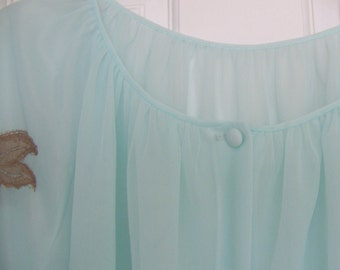 Medium Size Sheer Robe in Aqua Color