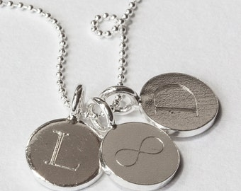 Sterling Silver Engraved Necklace