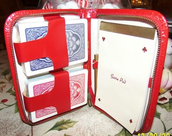 Griffon Bridge Set, Red Case Bridge Set, Black Case Bridge Set, New Bridge Cards, Score Pad, Pencil, Zipper Case, Two Decks of Cards