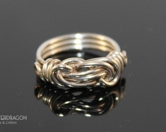 Knot Wire Wrapped Ring in Sterling Silver