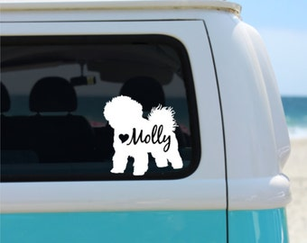 Bichon Frise  Decal | Personalized Decal | Car Decal |  Laptop Decal | Window Decal | iPad Decal | Notebook Decal | Vinyl